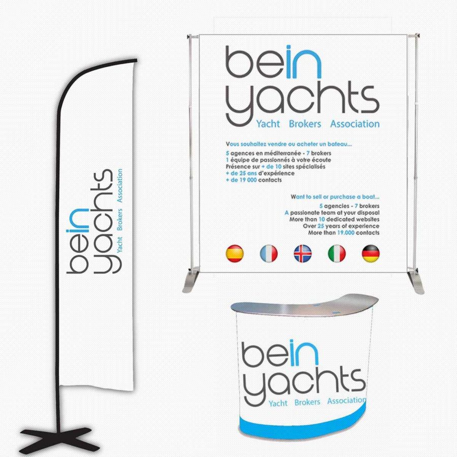 BE IN YACHTS PLV STAND