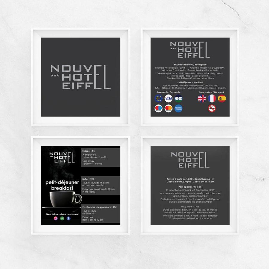 NOUVEL HOTEL EIFFEL 4 CADRES INFO